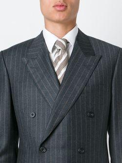 Diagonal Stripes Tie Kiton                                                                                                              коричневый цвет