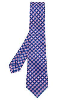 Square Print Tie Kiton                                                                                                              синий цвет