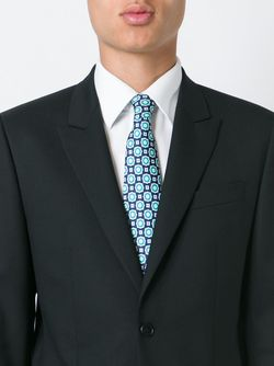 Geometric Pattern Neck Tie Kiton                                                                                                              зелёный цвет