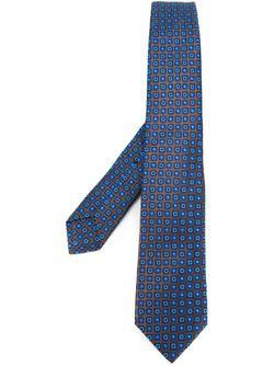 Geometric Pattern Neck Tie Kiton                                                                                                              коричневый цвет
