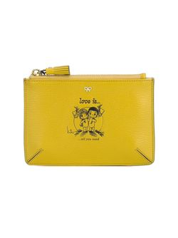 Love Is Small Leather Pouch Anya Hindmarch                                                                                                              желтый цвет