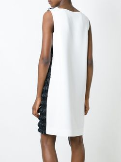 Двухцветное Платье С Бахромой Gianluca Capannolo                                                                                                              черный цвет