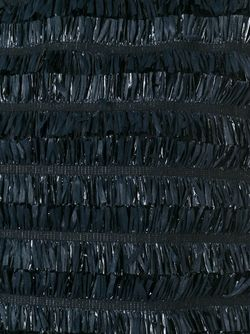 Двухцветное Платье С Бахромой Gianluca Capannolo                                                                                                              чёрный цвет