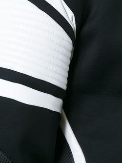 Толстовка С Кожаными Вставками Les Hommes                                                                                                              чёрный цвет