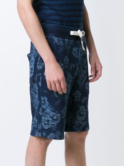 Flower Print Bermuda Shorts ALEX MILL                                                                                                              синий цвет