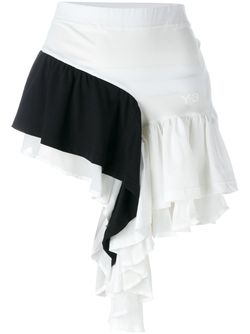 Ruffled Contrast Panel Shorts Y-3                                                                                                              белый цвет