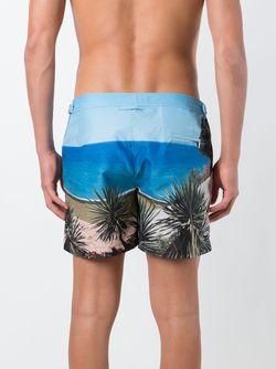 Шорты Для Плавания Setter Orlebar Brown                                                                                                              синий цвет