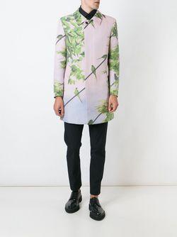 Bird Print Coat Issey Miyake                                                                                                              розовый цвет