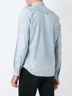 Джинсовая Рубашка Franklin Diesel                                                                                                              синий цвет