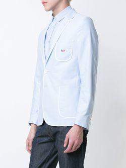 Блейзер С Контрастной Окантовкой Maison Kitsune                                                                                                              синий цвет