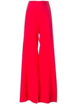 High-Waisted Palazzo Trousers MSGM                                                                                                              красный цвет
