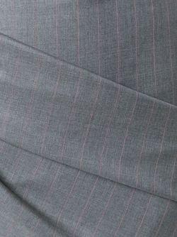 Юбка La Jupe Chemise Plissee JACQUEMUS                                                                                                              серый цвет
