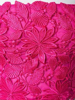Укороченный Топ С Цветочной Аппликацией Monique Lhuillier                                                                                                              розовый цвет