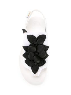 Сандалии С Цветочной Аппликацией Tory Burch                                                                                                              чёрный цвет