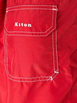 Шорты Для Плавания С Контрастной Окантовкой Kiton                                                                                                              красный цвет