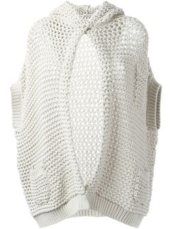 Chunky-Knit Hooded Cardigan Brunello Cucinelli                                                                                                              Nude & Neutrals цвет