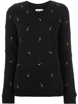 Embroidered Bee Jumper Zoe Karssen                                                                                                              черный цвет