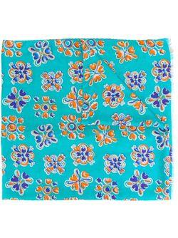 Floral Motif Scarf Kiton                                                                                                              синий цвет