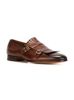 Fringe Loafers Santoni                                                                                                              коричневый цвет