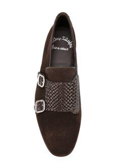 Туфли Монки Santoni                                                                                                              коричневый цвет