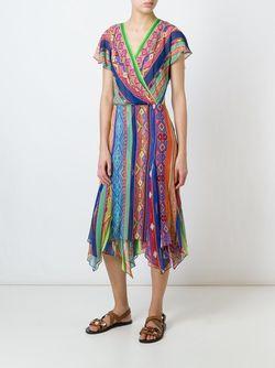 Ethnic Print Dress Polo Ralph Lauren                                                                                                              красный цвет