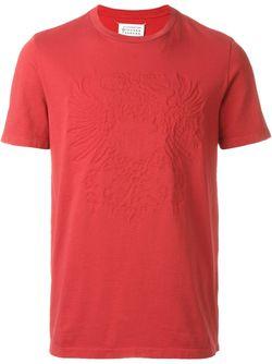 Футболка С Тиснением Maison Margiela                                                                                                              красный цвет