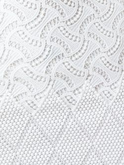 Macrame Mid-Length Pencil Skirt Ermanno Scervino                                                                                                              белый цвет