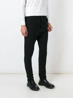Woven Tapered Trousers Poème Bohèmien                                                                                                              черный цвет