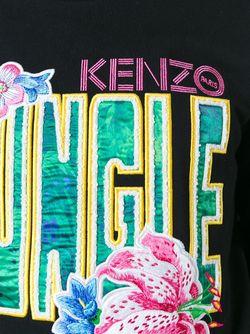 Толстовка С Вышивкой Kenzo                                                                                                              чёрный цвет