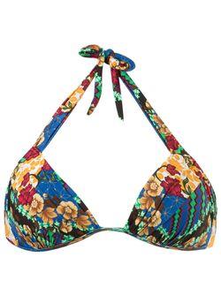 Printed Halter Bikini Top BLUE MAN                                                                                                              многоцветный цвет