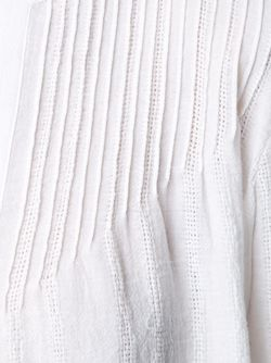 Tasseled Hem Longlseeved Blouse Derek Lam 10 Crosby                                                                                                              белый цвет