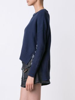 Fringed Jumper Derek Lam 10 Crosby                                                                                                              синий цвет