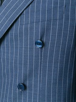 Pinstriped Double-Breasted Suit Tagliatore                                                                                                              синий цвет