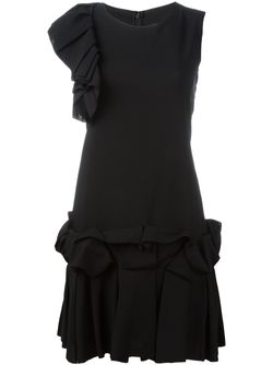 Ruffle Detail Mini Dress Gianluca Capannolo                                                                                                              чёрный цвет