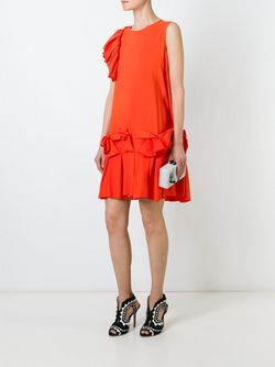 Мини-Платье С Рюшами Gianluca Capannolo                                                                                                              желтый цвет