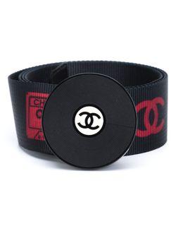 Ремень С Пряжкой В Виде Виниловой Пластинки Chanel Vintage                                                                                                              черный цвет