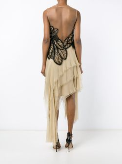 Sleeveless Asymmetric Butterfly Dress Alberta Ferretti                                                                                                              чёрный цвет
