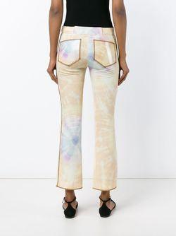 Cropped Tie-Die Trousers Paco Rabanne                                                                                                              желтый цвет