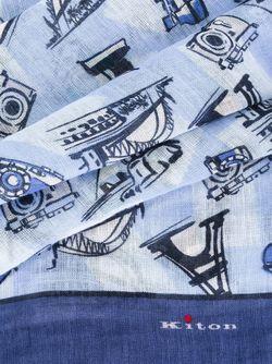 Шарф С Графическим Принтом Kiton                                                                                                              синий цвет