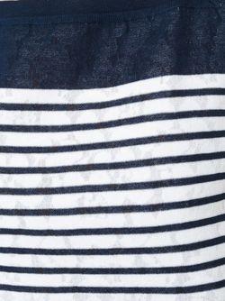 Полосатое Мини-Платье Шифт Ermanno Scervino                                                                                                              синий цвет