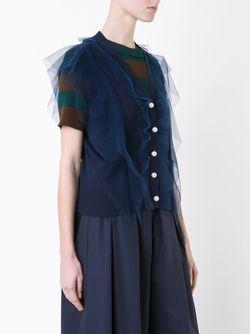 Overlay Sleeveless Cardigan Muveil                                                                                                              синий цвет