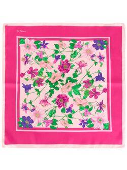 Нагрудный Платок С Цветочным Принтом Kiton                                                                                                              розовый цвет
