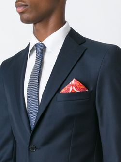 Print Pocket Square Kiton                                                                                                              красный цвет