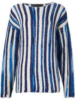 Striped Jumper The Elder Statesman                                                                                                              синий цвет