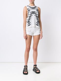 Distressed Denim Shorts Obey                                                                                                              белый цвет
