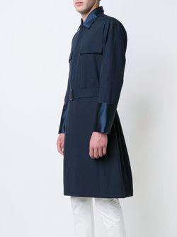 Belted Trench Coat Umit Benan                                                                                                              синий цвет