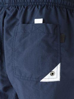 Двухцветные Плавательные Шорты Boss Hugo Boss                                                                                                              синий цвет