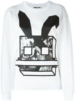 Толстовка Electro Bunny Mcq Alexander Mcqueen                                                                                                              белый цвет