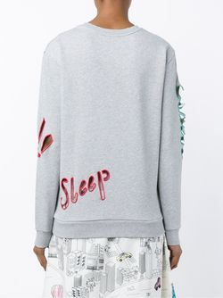 Cutout Embroidered Sweatshirt Mira Mikati                                                                                                              серый цвет