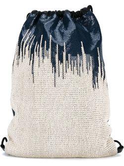Mesh Drawstring Backpack Paco Rabanne                                                                                                              синий цвет
